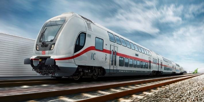 Intercity auf der Schiene
