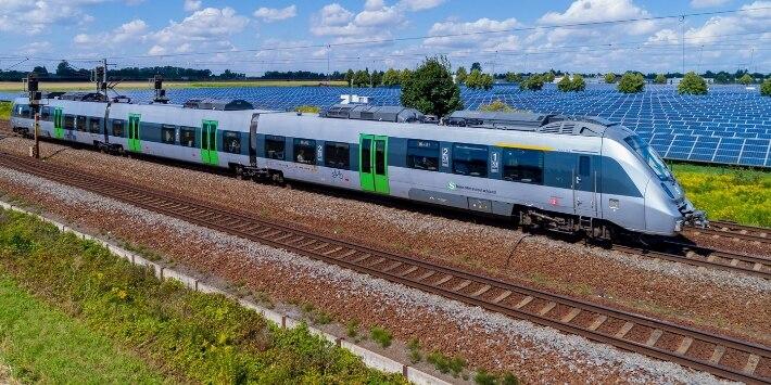 Zug der S-Bahn Mitteldeutschland