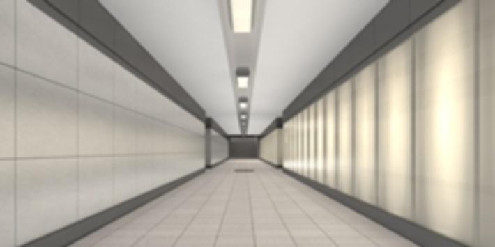Visualisierung: Blick Richtung Norden in die modernisierte Personenunterführung des Bahnhofs Miltenb