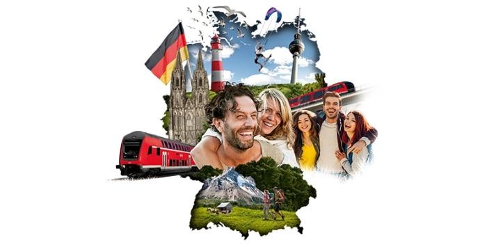 Quer-durchs-land-Ticket Deutschelandkarte