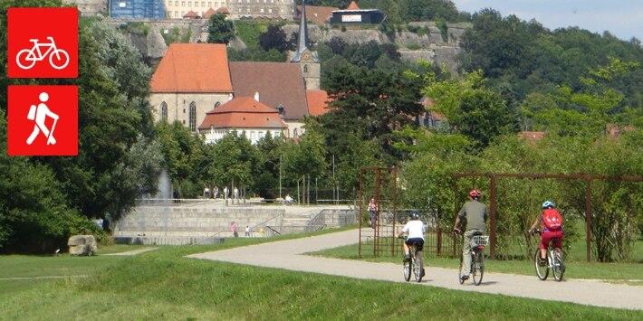 Radfahrer vor Kronach