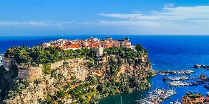 Blick auf Monte Carlo, Monaco