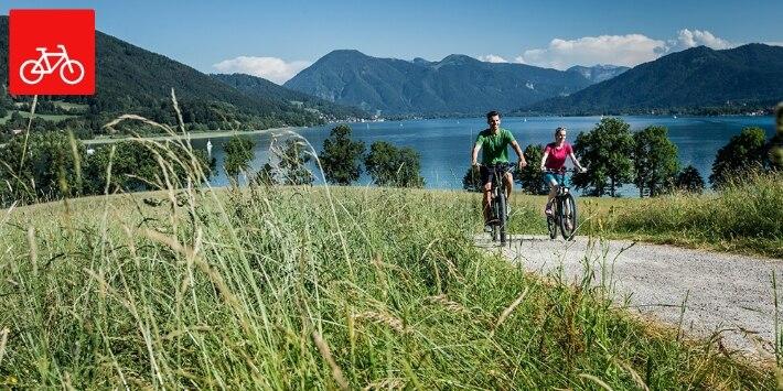 Fahrradfahrer am Tegernsee