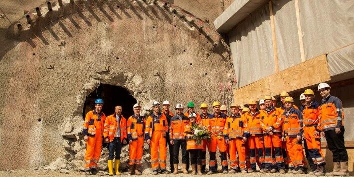 Tunneldurchstich Zierenberg