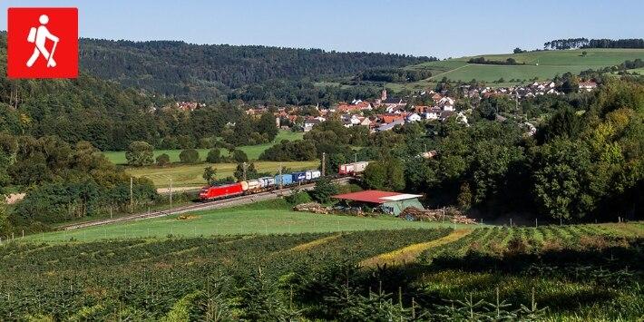 Sinntalbus in Landschaft