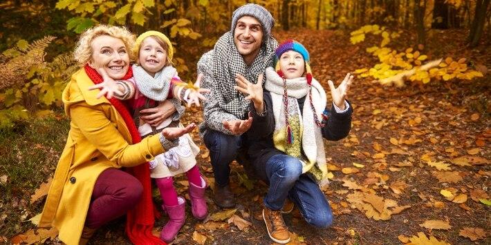 Familie Herbstlaub