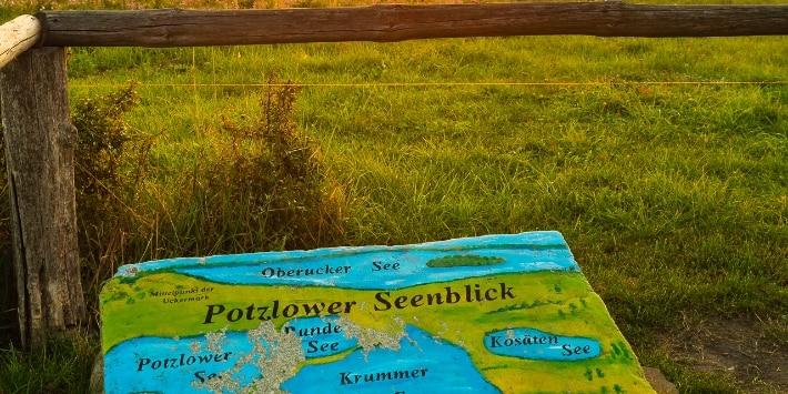 Hinweisschild Potzlower Seenblick