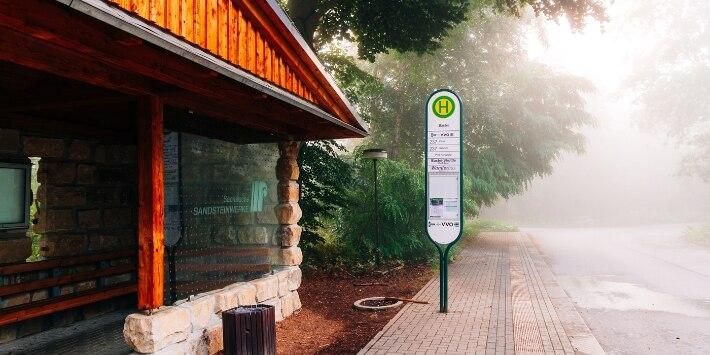 Sächsische Schweiz Bushaltestelle