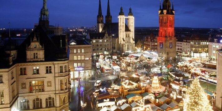 Halle Weihnachtsmarkt © SMG Halle, Foto: Thomas Ziegler