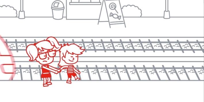 Personen im Gleis