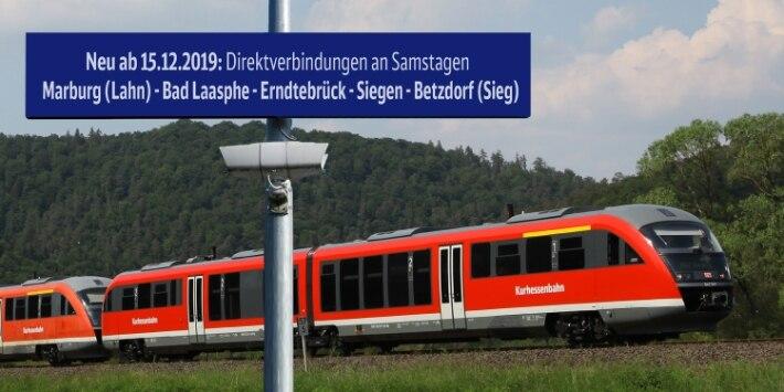 Direktverbindungen an Samstagen Marburg (Lahn) - Siegen