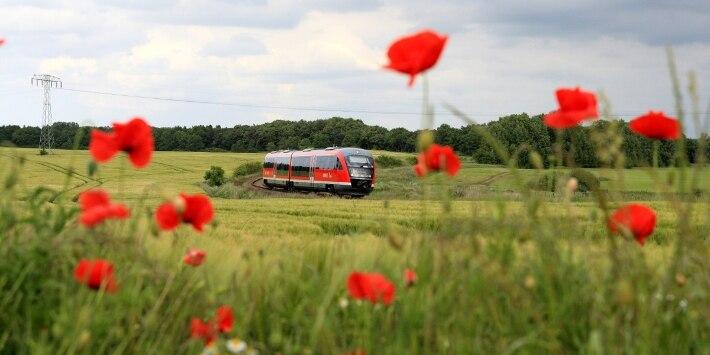 Regionalzug VT 642, Landschaft