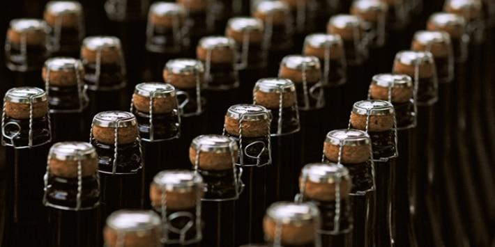 Sektflaschen Produktion