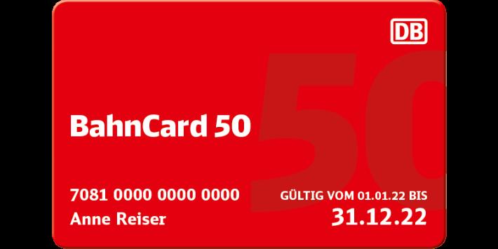 BahnCard 50 Abbildung
