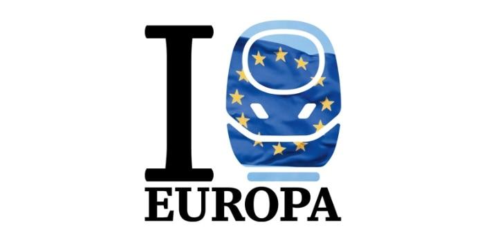 Sparpreis Europa Signet mit einem ICE