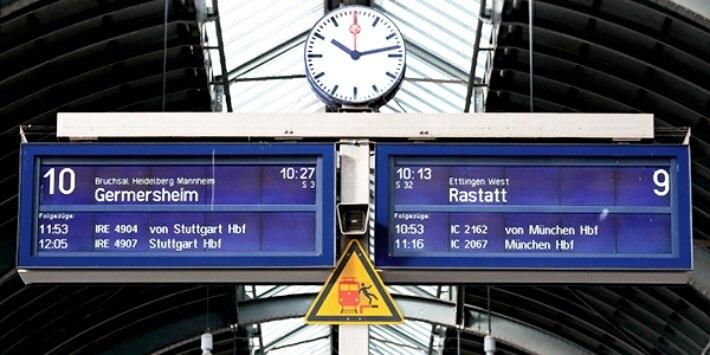 Bahnhofstafel am Bahnhof