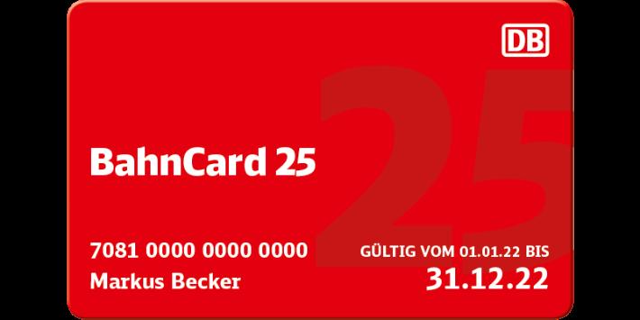 BahnCard 25 Abbildung