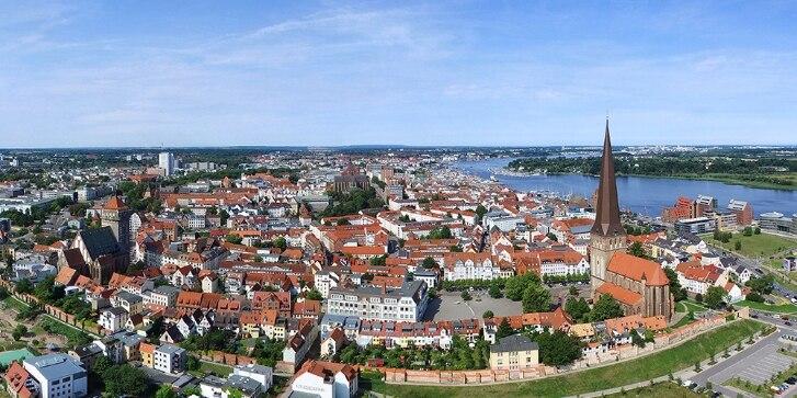 Luftbild von Rostock
