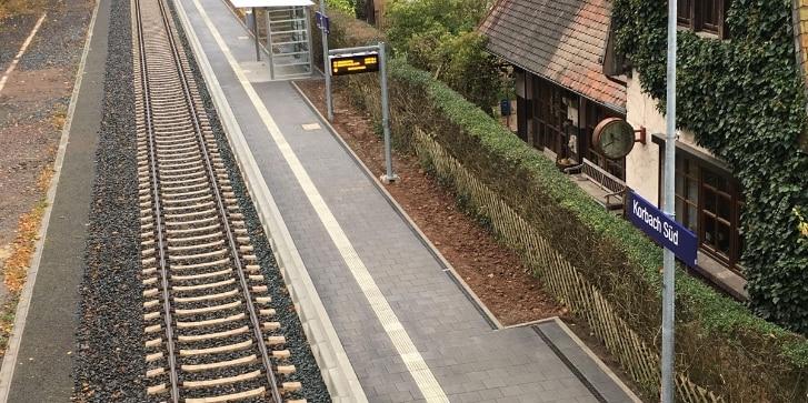 Neuer barrierefreier Bahnsteig in Korbach Süd