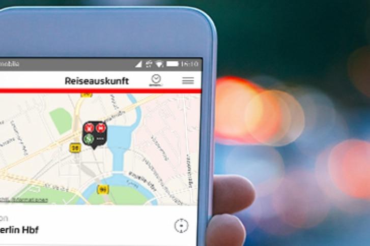 Smartphone mit Reiseauskunft