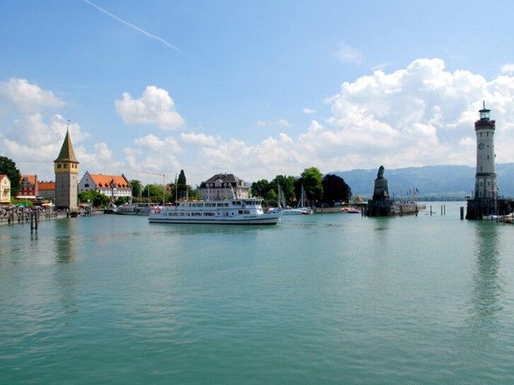Ansicht Lindau vom See aus