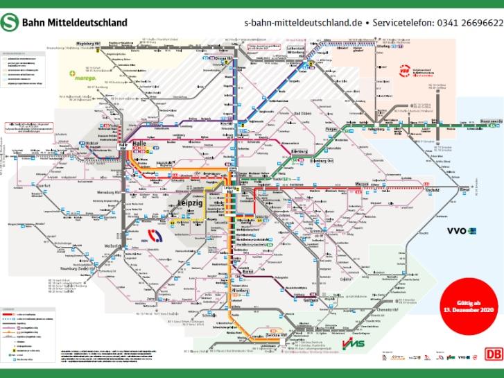 Liniennetzplan S-Bahn Mitteldeutschland