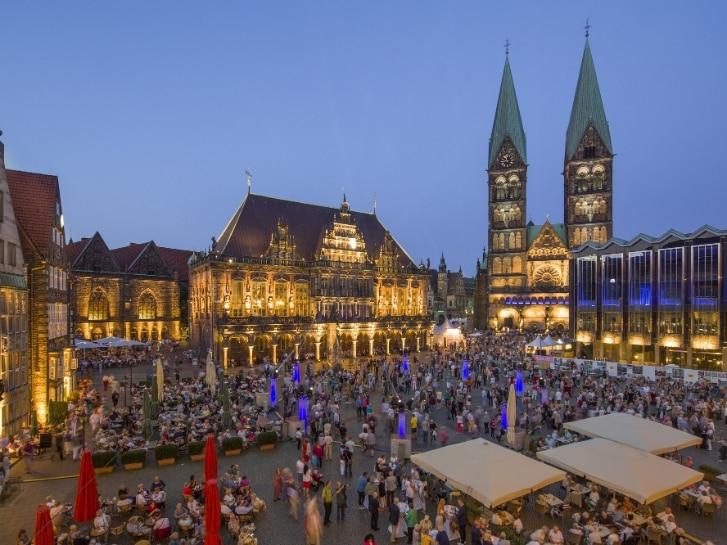 Marktplatz von Bremen während Musikfest
