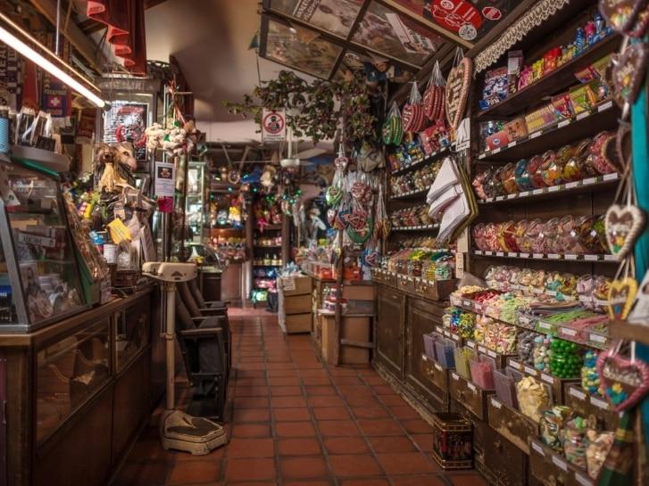 Süßigkeiten, Zuckerladen