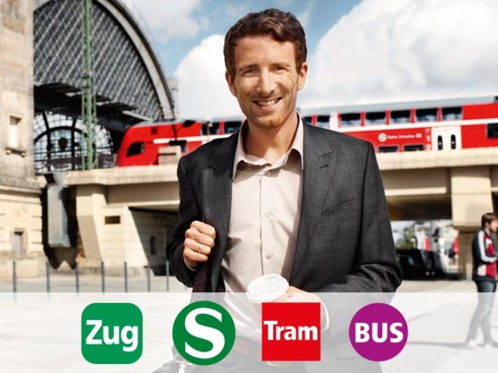 S-Bahn Dresden: auf der Marienbrücke
