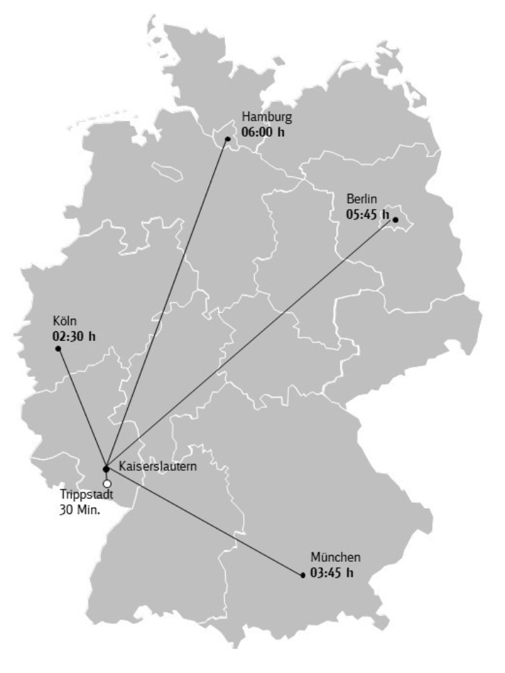 Karte Anreise Pfälzerwald