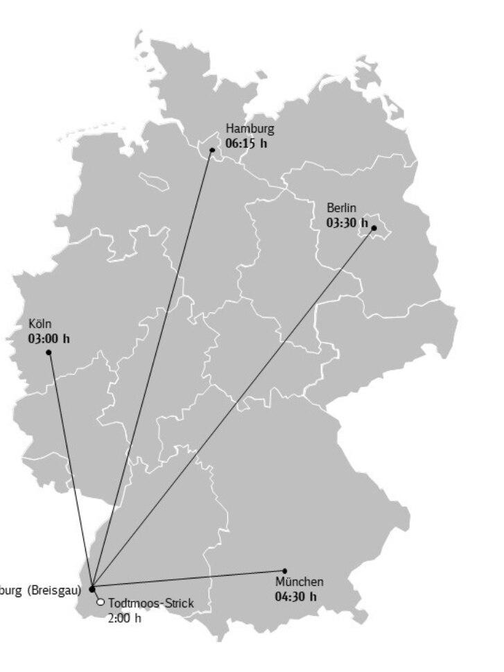 Karte Anreise Schwarzwald