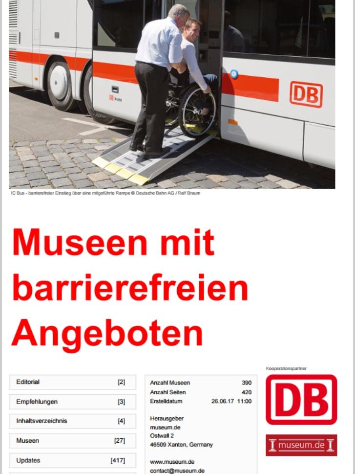 Deckblatt des interaktiven Nachschlagewerk für barrierefreie Museen