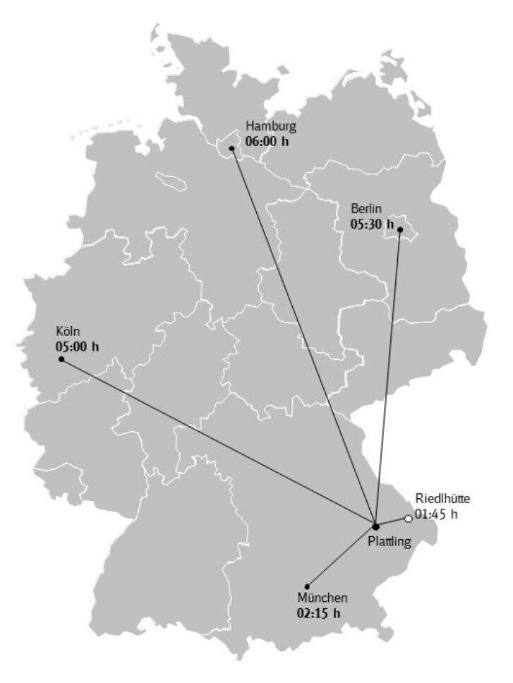 Karte Bayerischer Wald