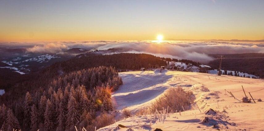 sunrise on Feldberg
