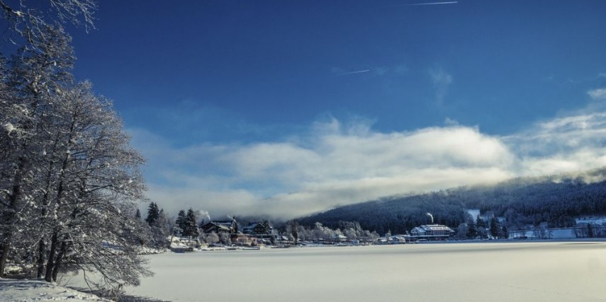 Titisee lake in Winter
