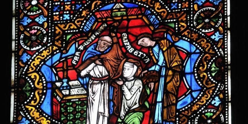Elisabethfenster in der Elisabethkirche in Marburg