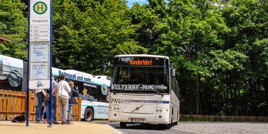Halt des Welterbe-Bus