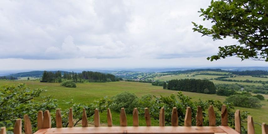 Aussichtsplattform im Baumkronenpfad Hoherodskopf im hohen Vogelsberg