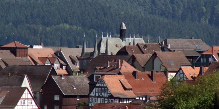 Blick auf die Altstadt von Frankenberg (Eder)
