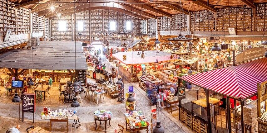 Marktstände von oben