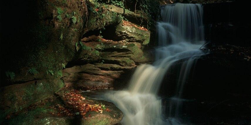 Wasserfall in der Hexenklamm