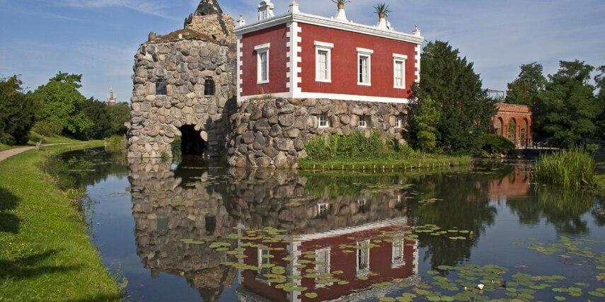 Park Insel Stein Wörlitz