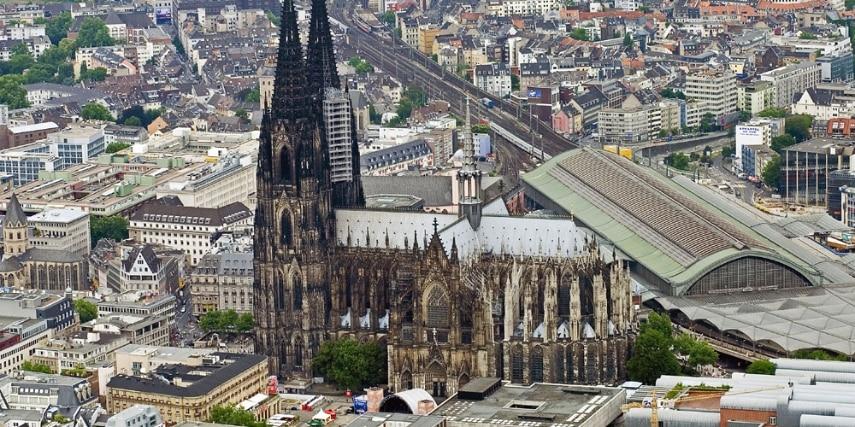 Luftaufnahme Kölner Dom
