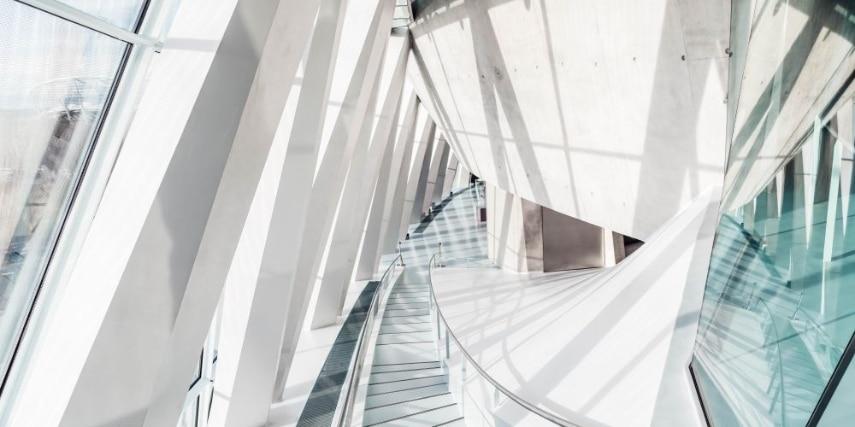 Mercedes-Benz Museum: Architektur Collectionstreppen