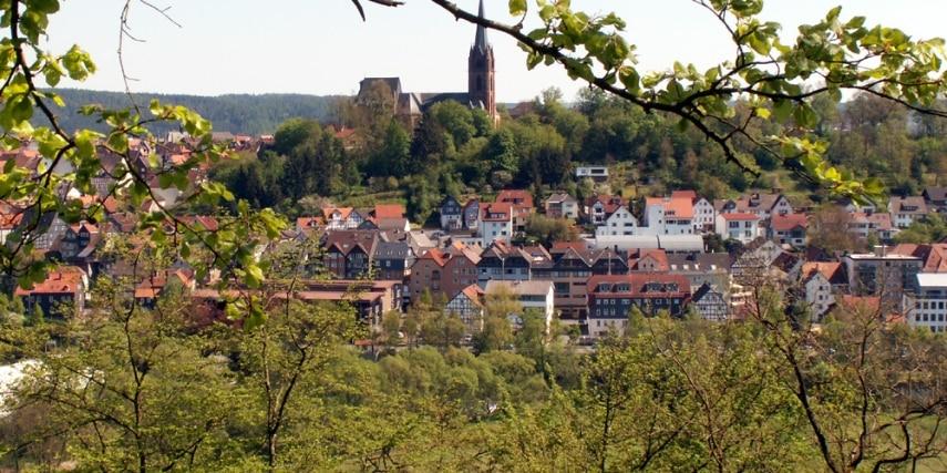 Blick auf Frankenberg
