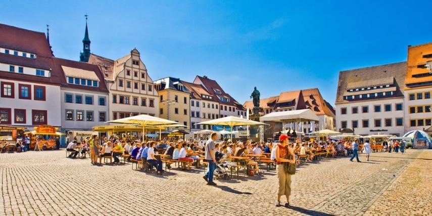 Historischer Obermarkt Freiberg