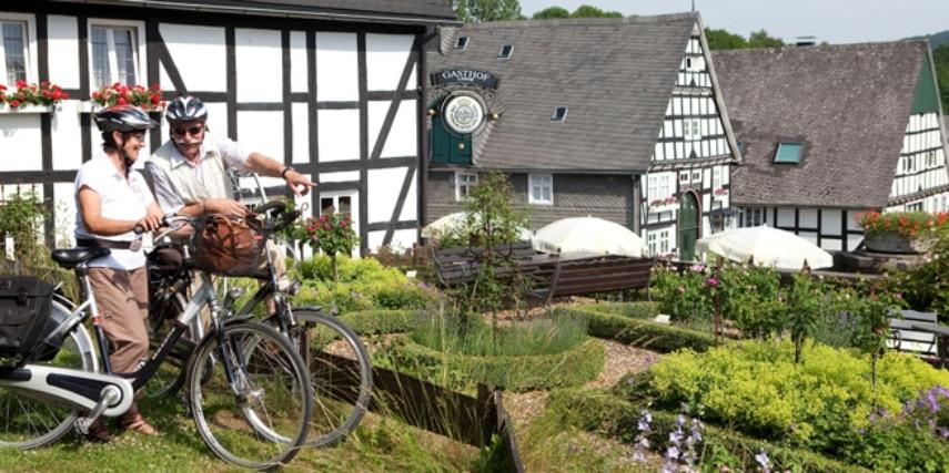 Fahrradfahrer in Olsberg