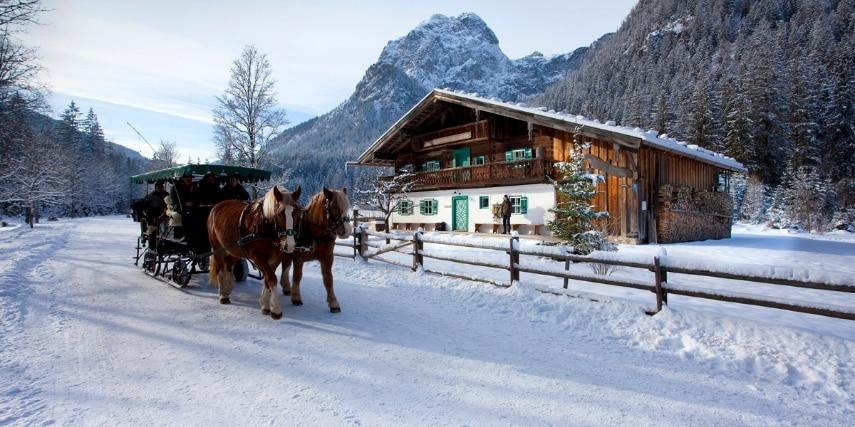 Pferdeschlitten Klausbachhaus