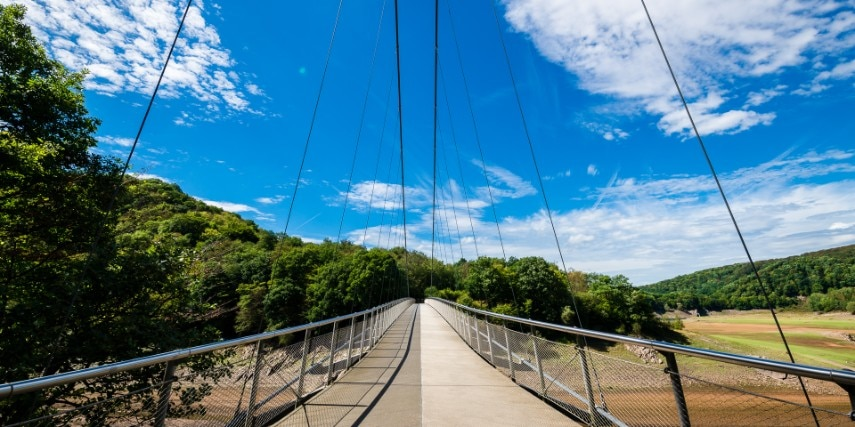 Brücke, Eifel Landschaft