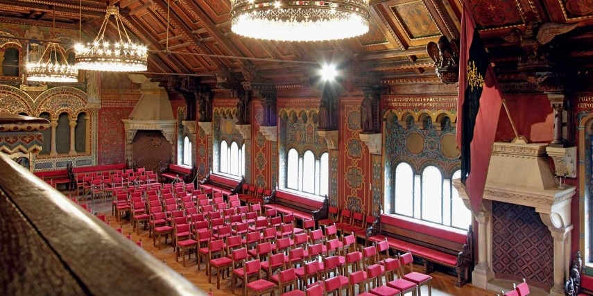 Festsaal in der Wartburg in Eisenach
